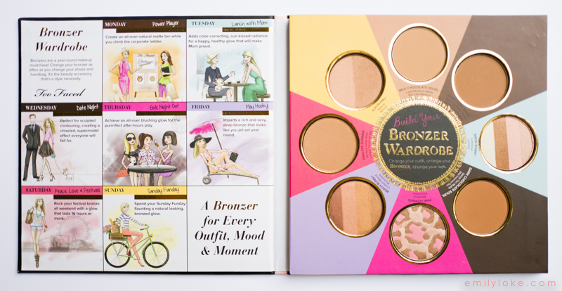 Too Faced Little Black Book of Bronzers Review3