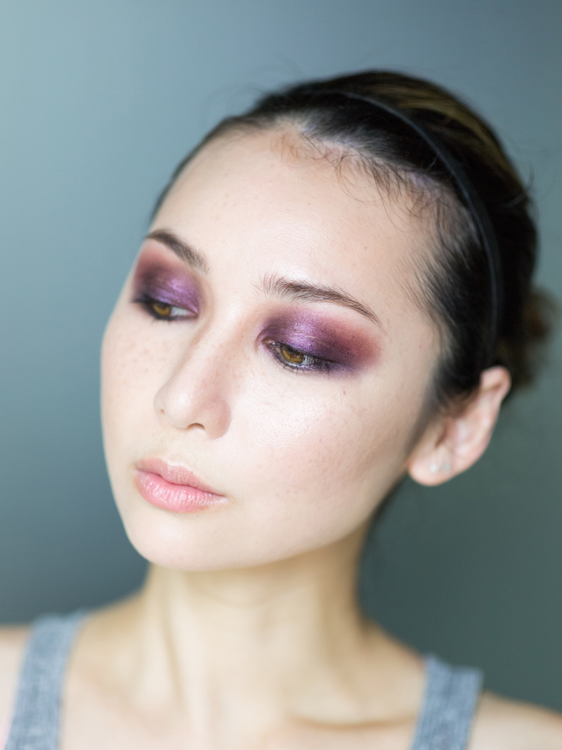 dramatic purple smokey eyes6