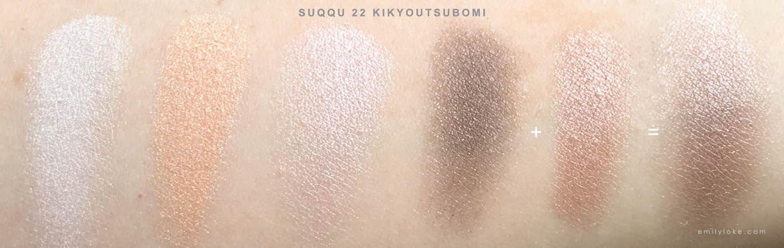 Suqqu 22 Kikyoutsubomi Swatches