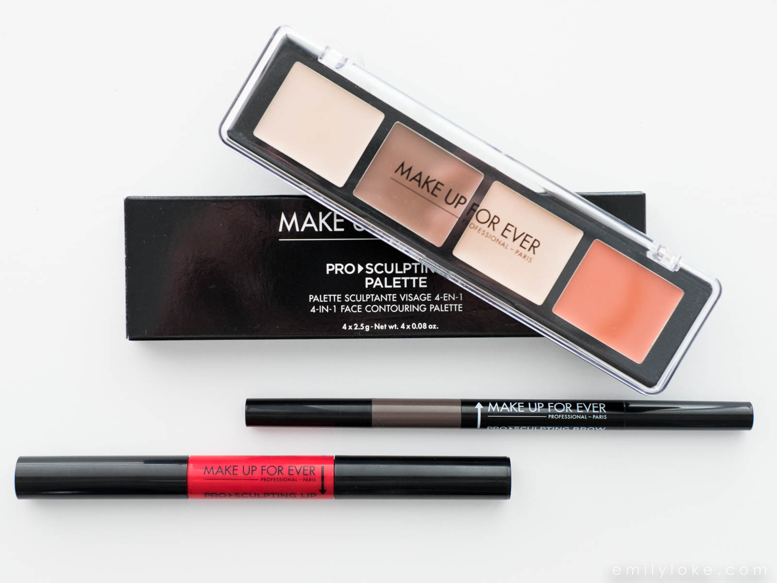 Review Make Up For Ever Pro Sculpting Lip Brow And Palette