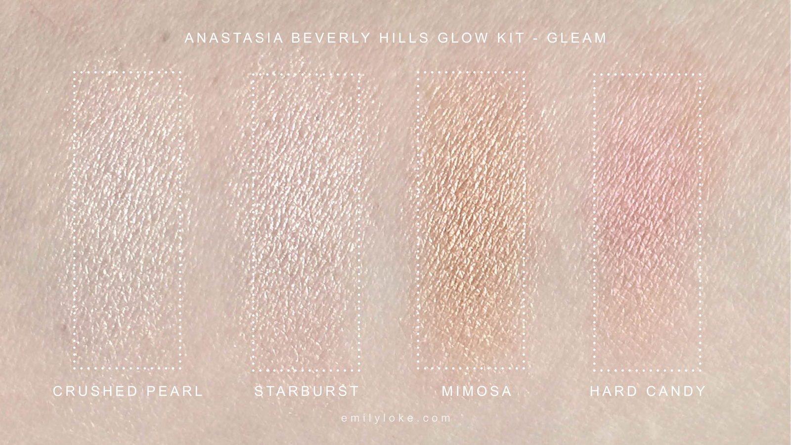 Anastasia Beverly Hills Gleam Swatch