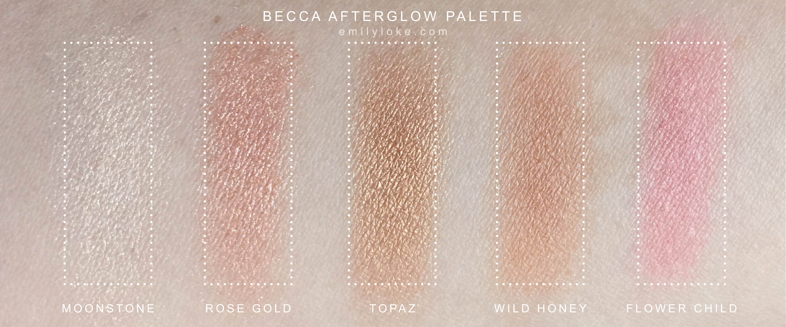 Becca Afterglow Swatches
