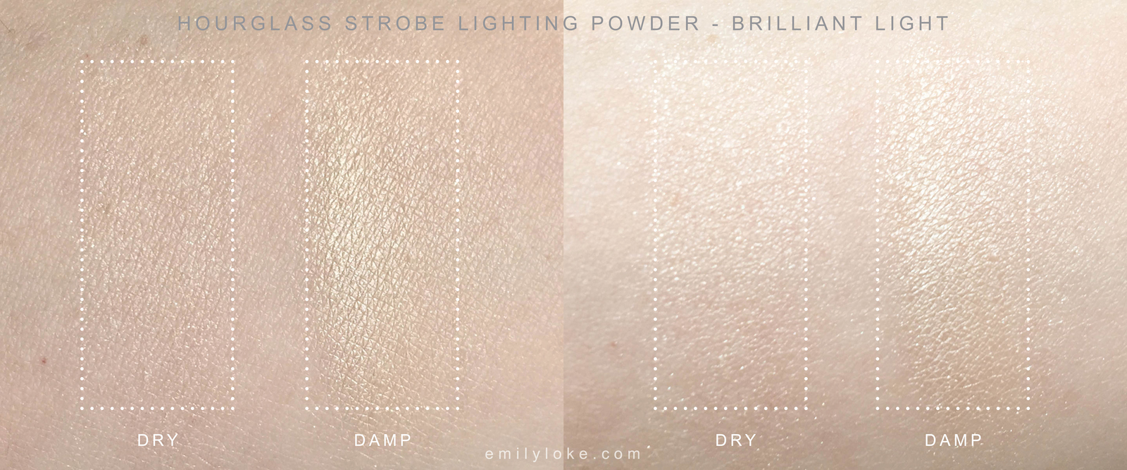 Hourglass Strobe Lighting Powder Brilliant Swatches