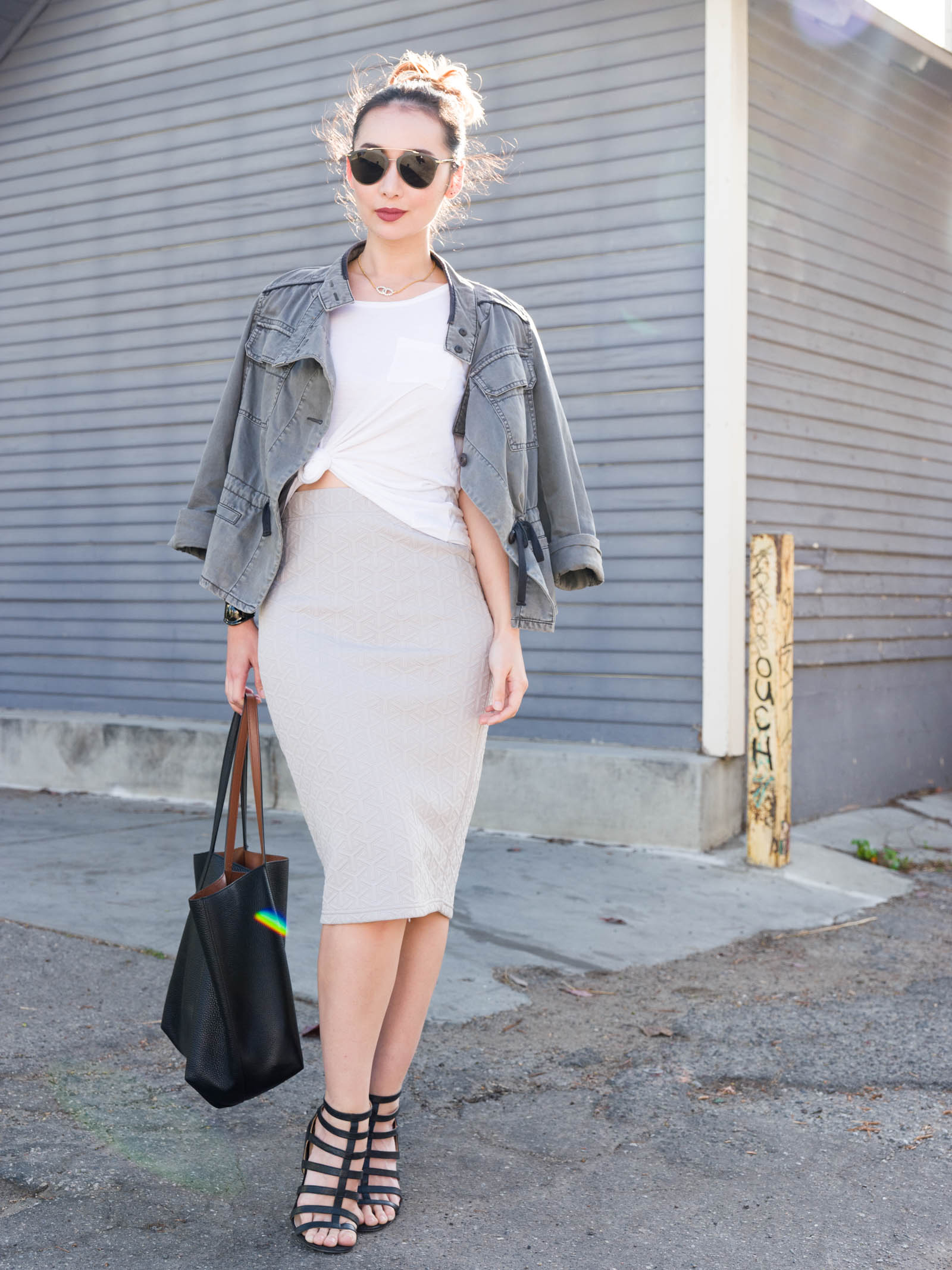 Casual Pencil Skirt1