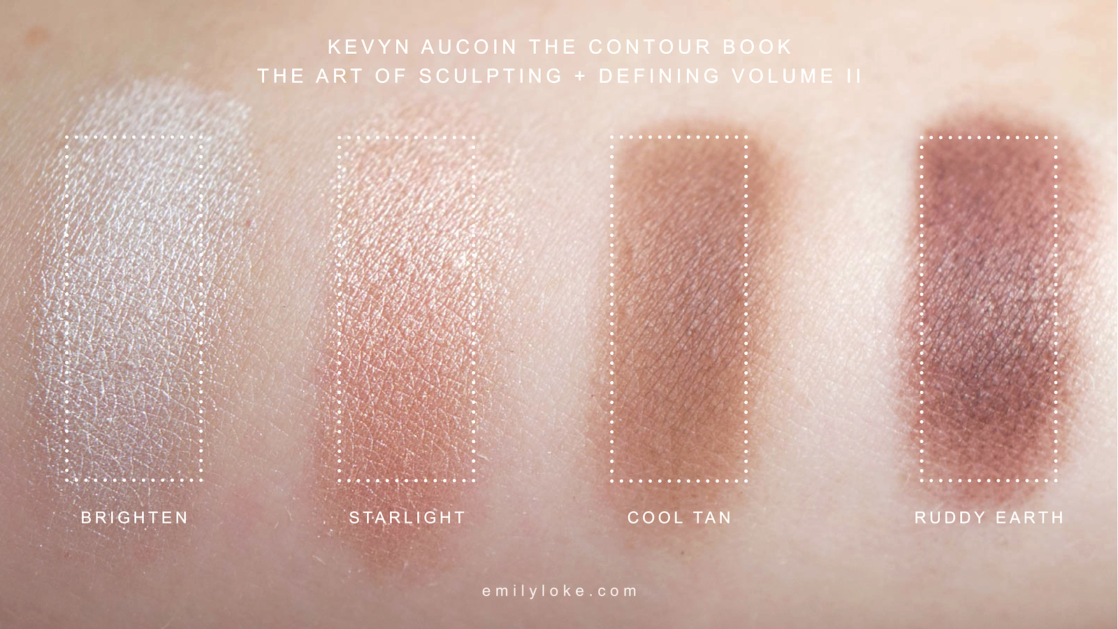 Kevyn Aucoin Contour Book Vol 2 Swatches 2