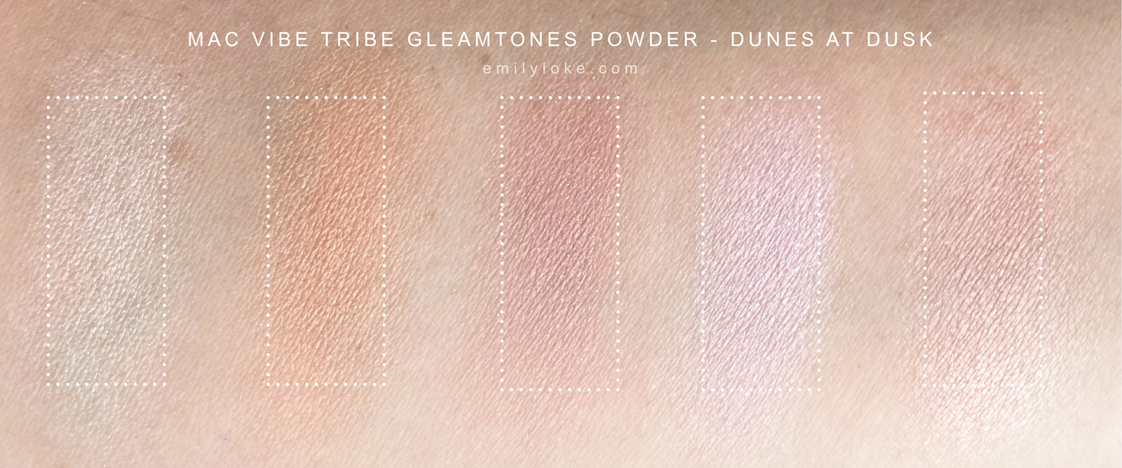 MAC Vibe Tribe Dunes at Dusk Swatches