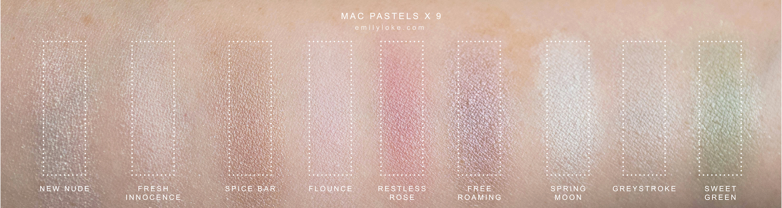 MAC Pastels x 9 Swatches 2