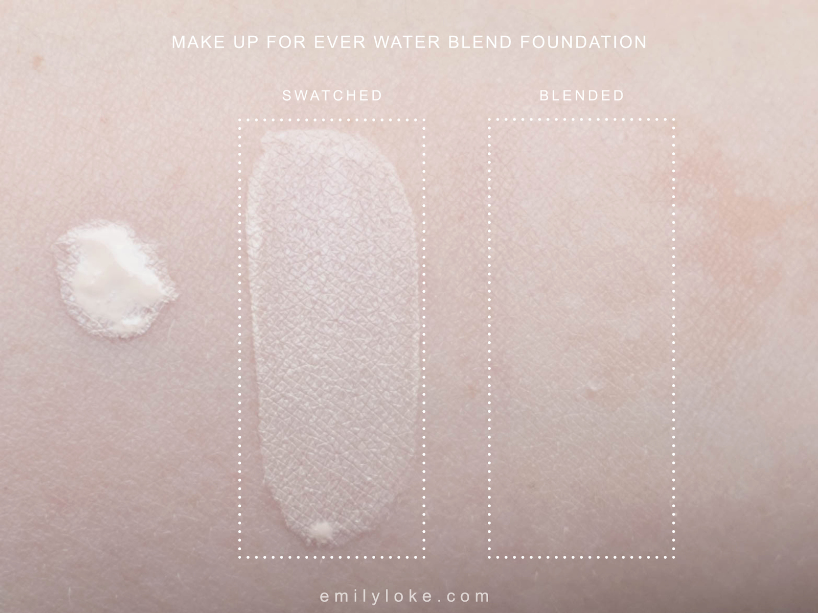 Make Up For Ever Water Blend Swatch