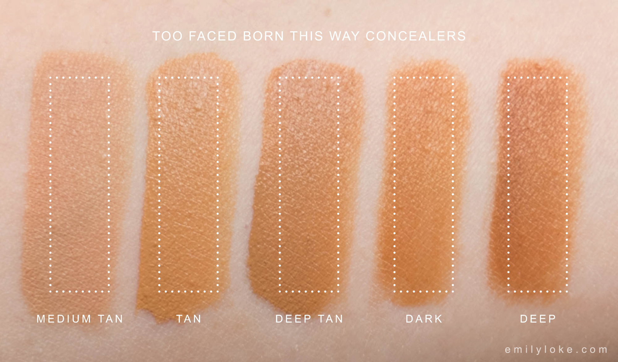 too faced born this way concealer swatches 02