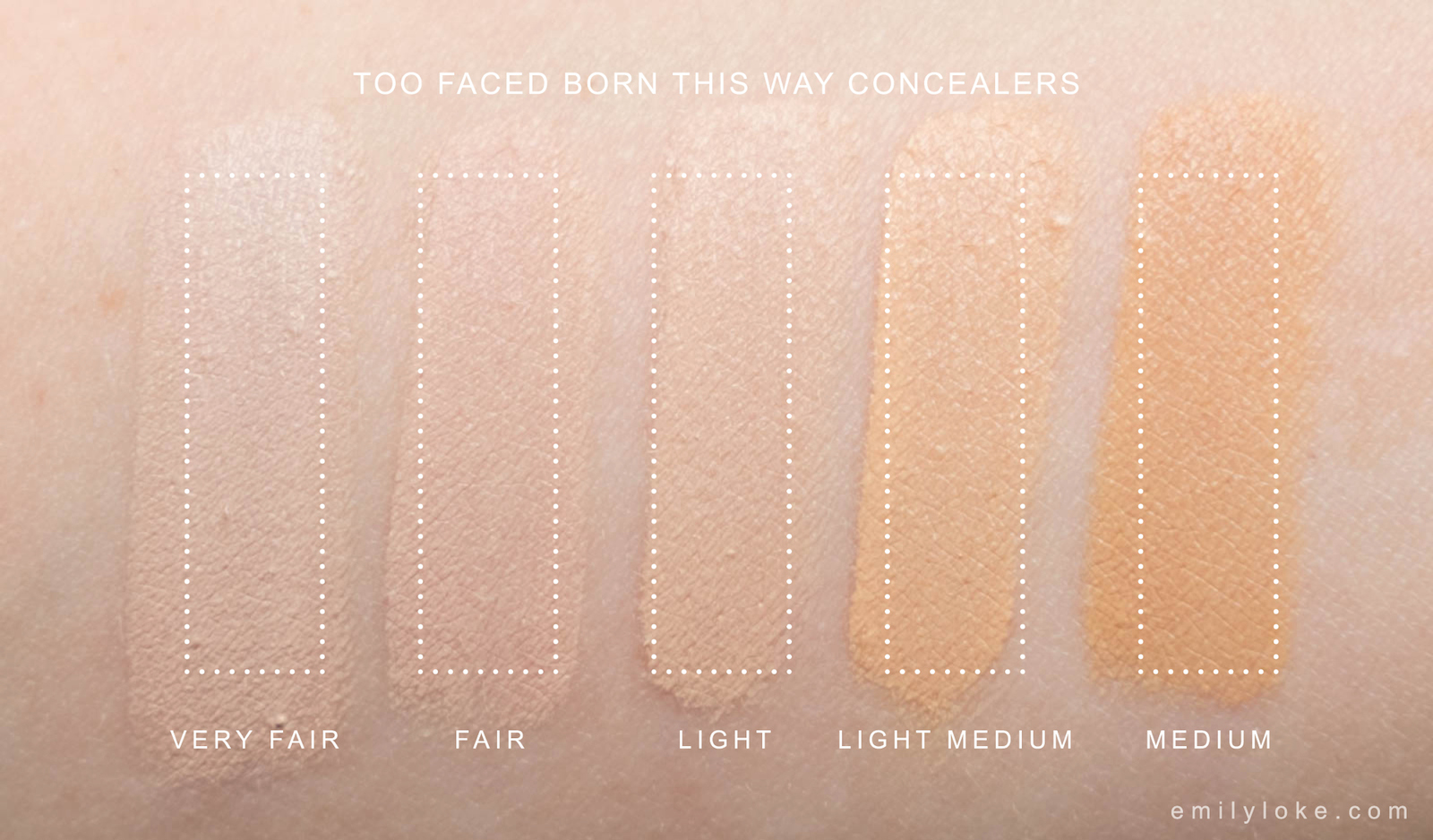 too faced concealer before and after. too faced born this way concealer swatches before and after u