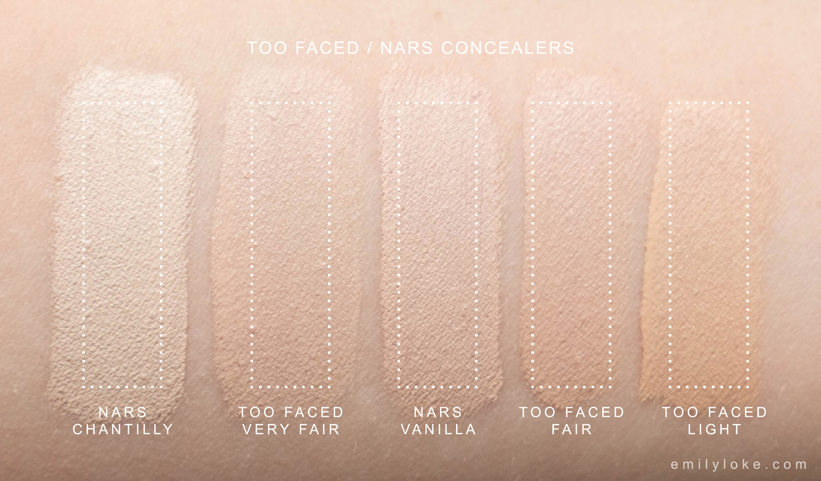 too faced vs nars concealer