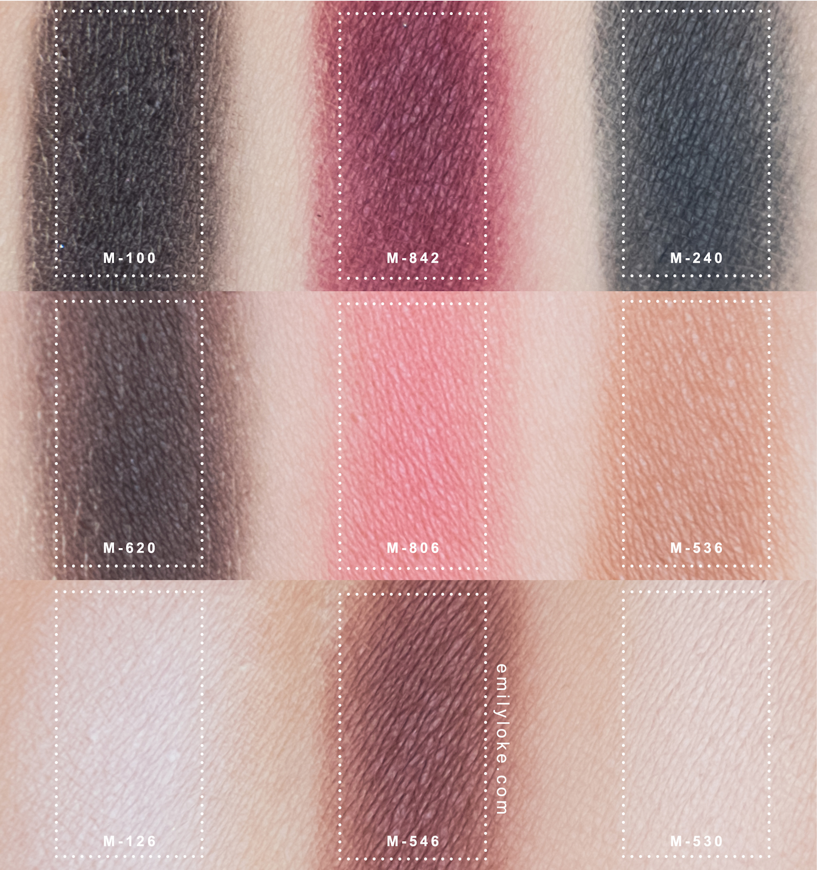 Make Up For Ever Artist Shadow Palette 4 Swatches