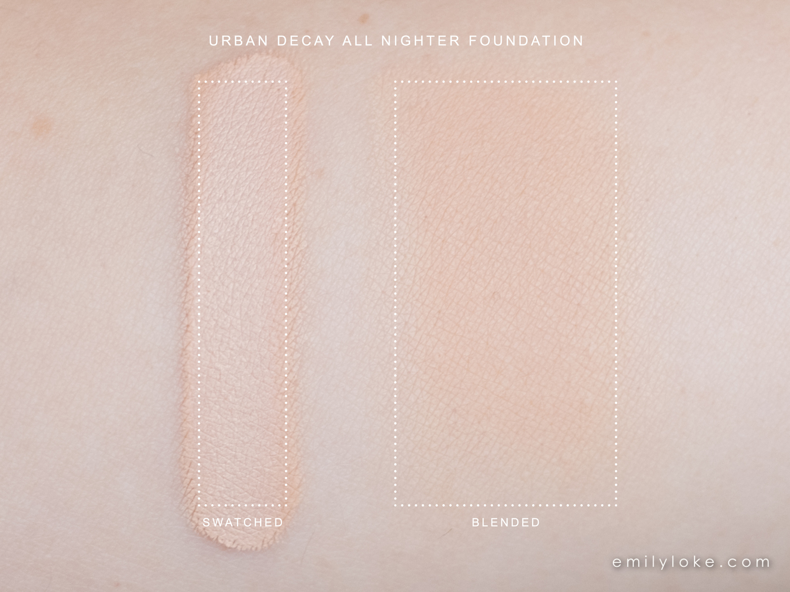 urban decay all nighter foundation swatch 1