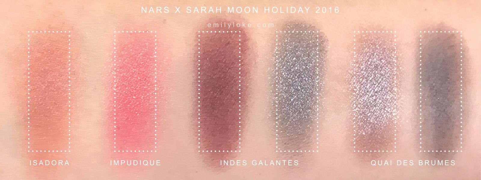 NARS x Sarah Moon Swatches 1