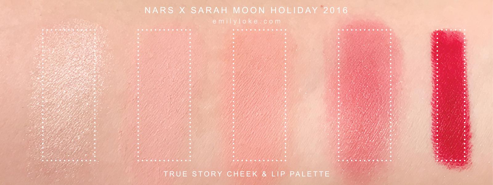 NARS x Sarah Moon swatches 2