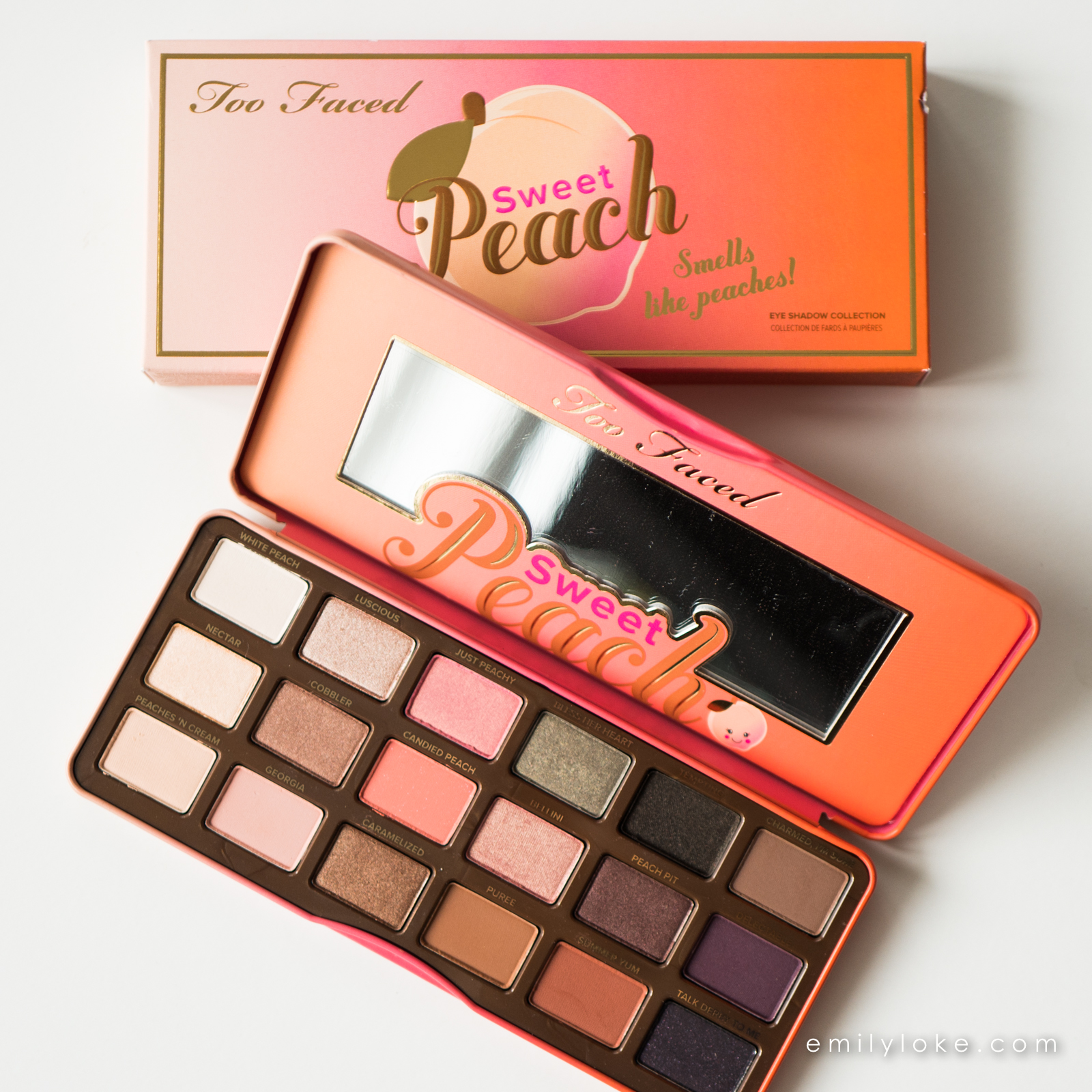 too faced sweet peach eyeshadow palette 1