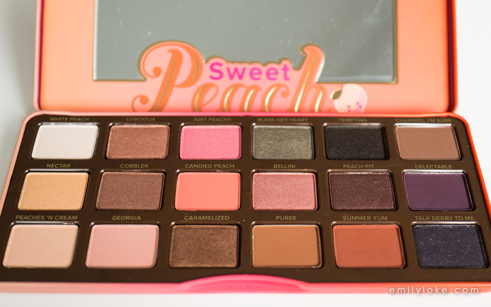 too faced sweet peach eyeshadow palette 3
