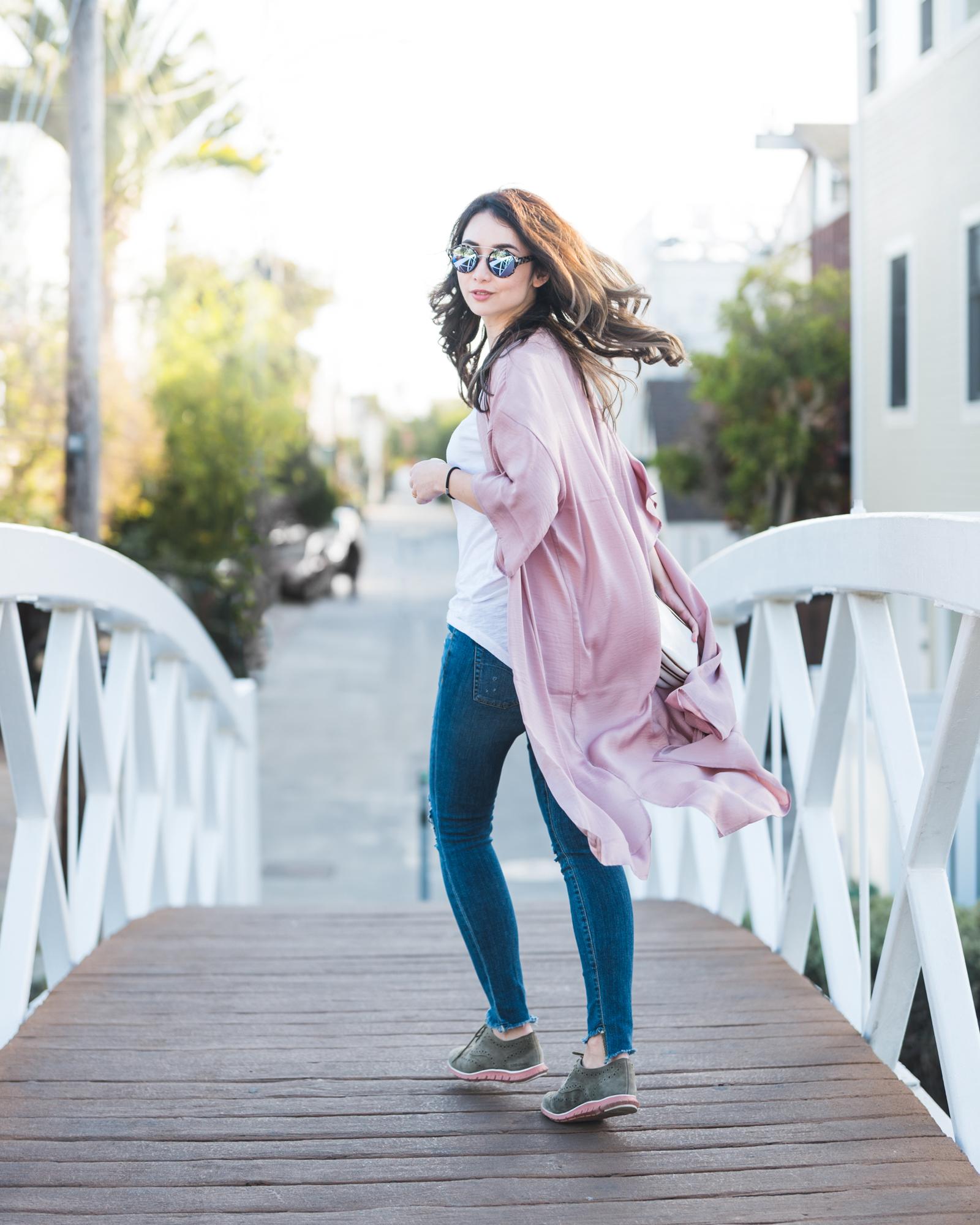pink kimono outfit 1
