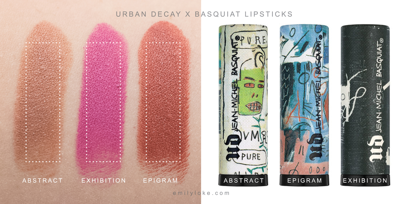 urban decay basquiat lipstick swatches