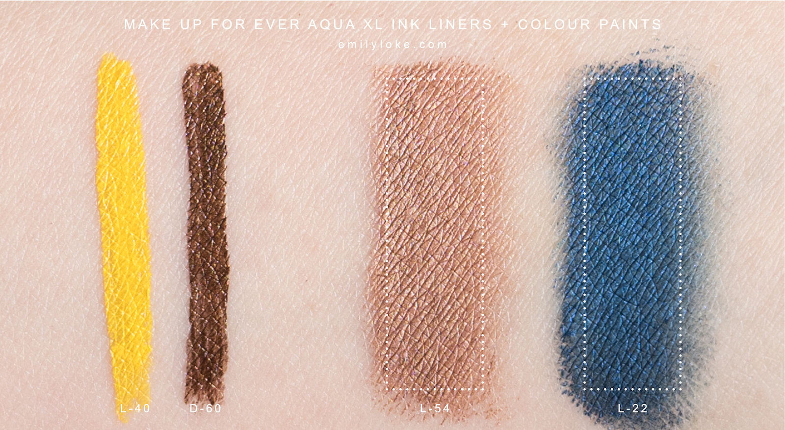 make up for ever aqua xl colour paints and ink liners