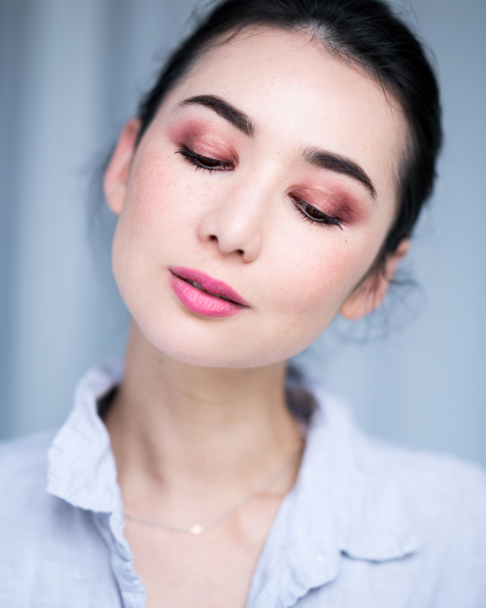 monochromatic pink makeup 3
