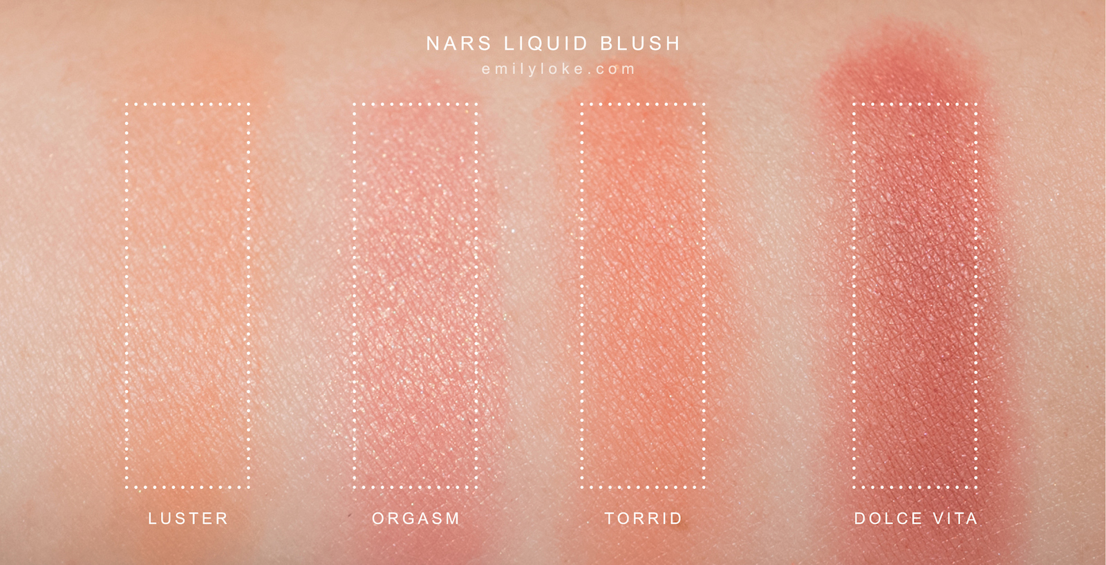nars liquid blush swatches