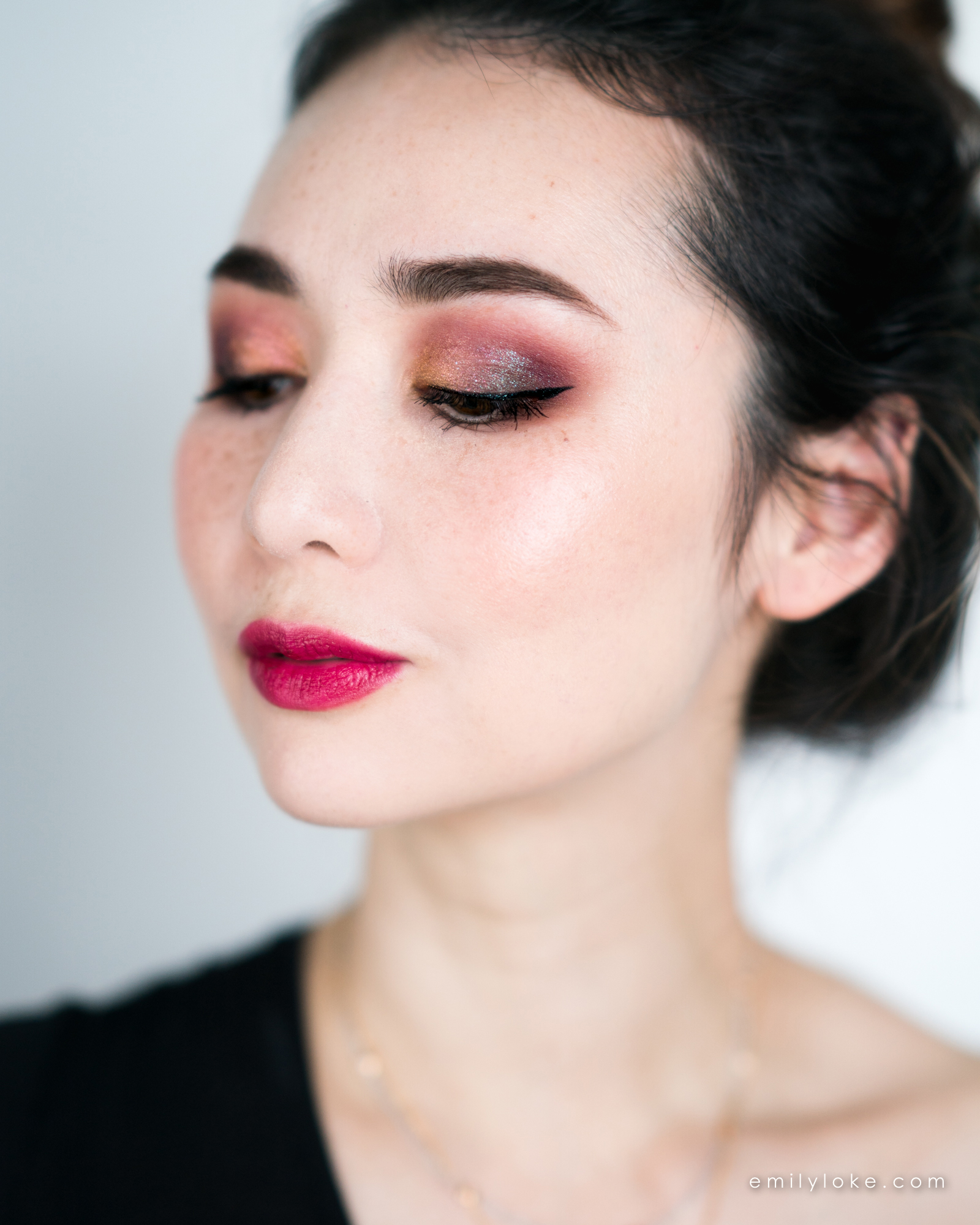 burgundy galaxy makeup 4