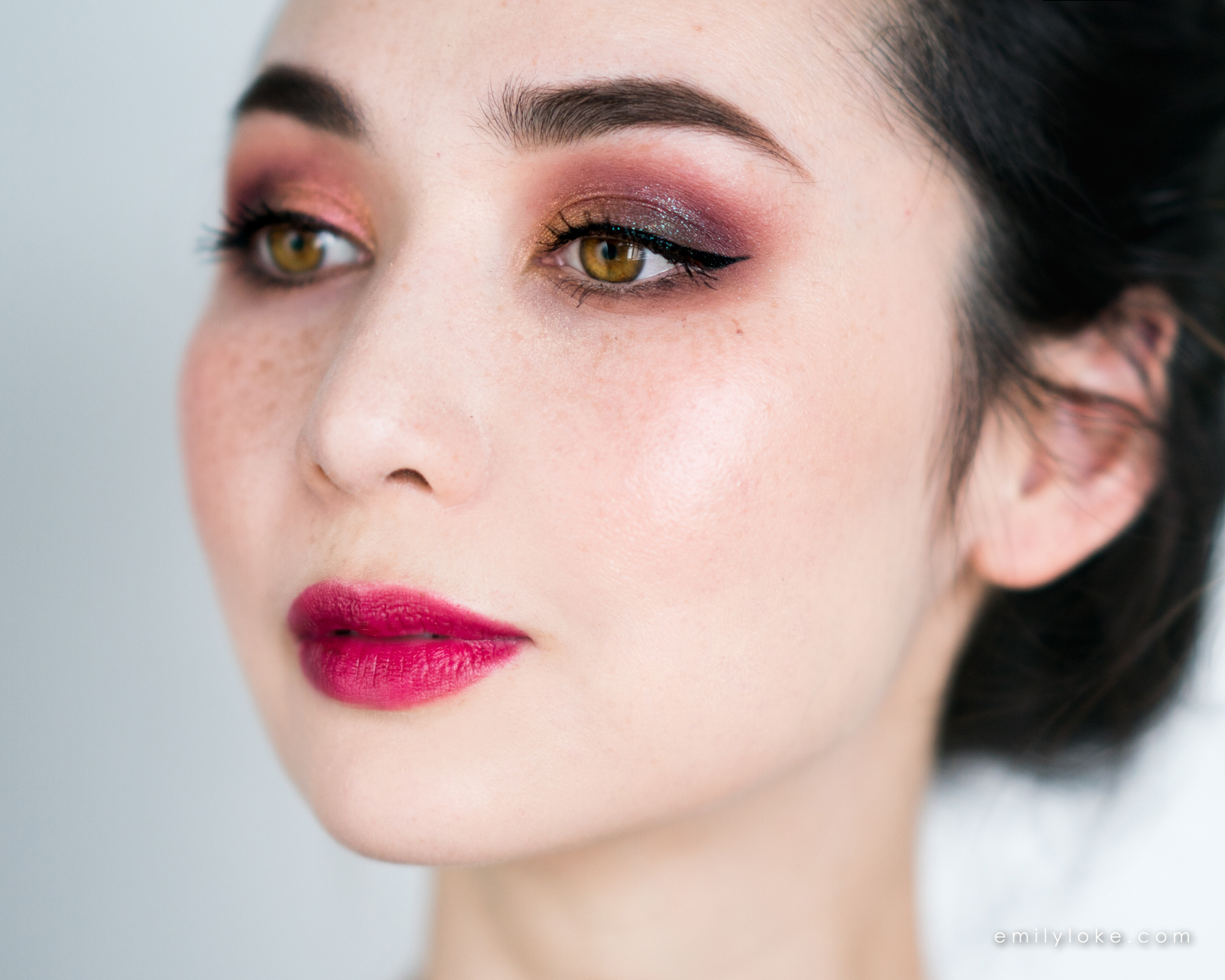 burgundy galaxy makeup 5