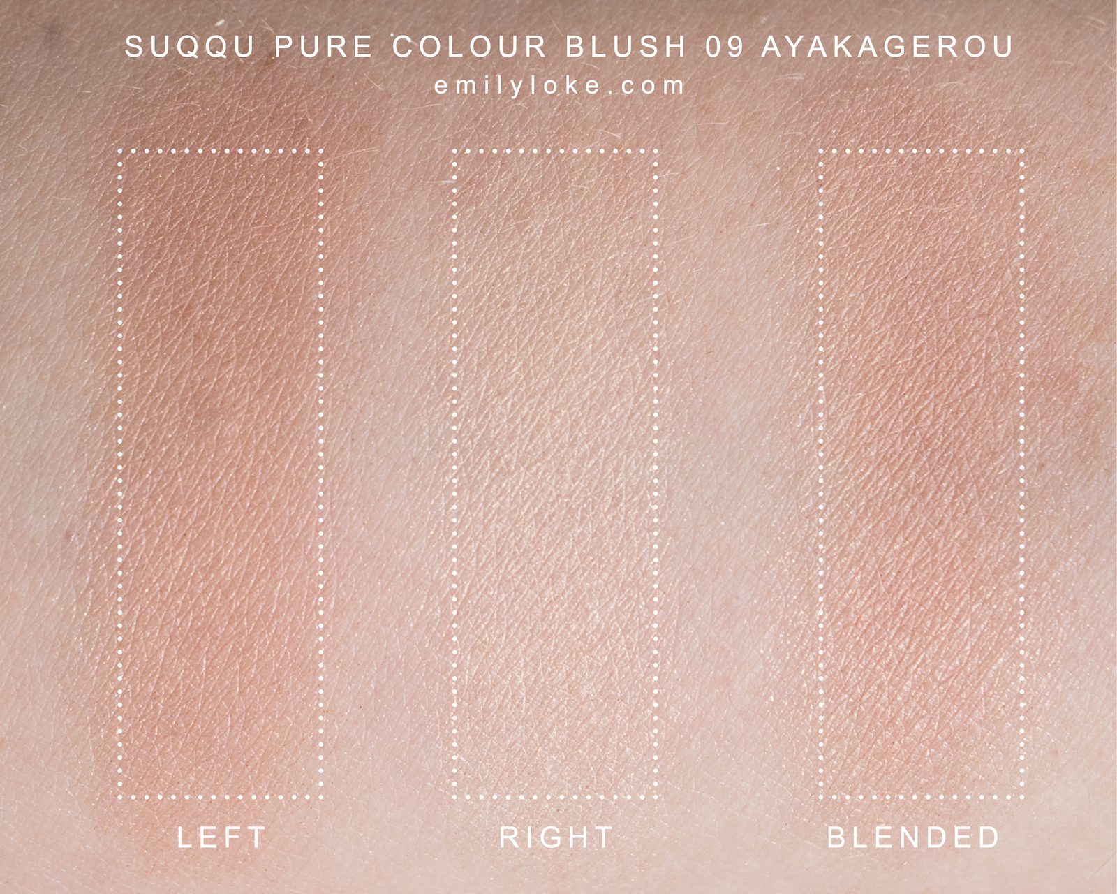 suqqu pure colour blush 09 Ayakagerou swatches